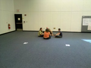 people sitting in a circle