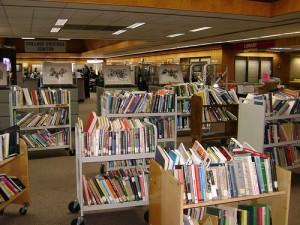 many, many bookcarts