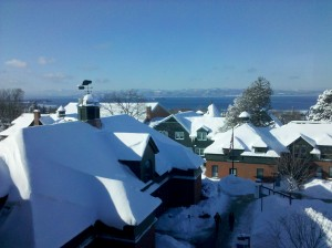 champlain college under snow