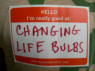 changing life bulbs